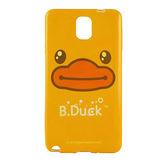 B‧Duck 黃色小鴨 Samsung Galaxy Note3 造型浮雕圖案晶鑽保護套 -黃色大臉鴨