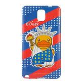 B‧Duck 黃色小鴨 Samsung Galaxy Note3 造型浮雕圖案晶鑽保護套 -自由女神鴨