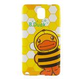 B‧Duck 黃色小鴨 Samsung Galaxy Note3 造型浮雕圖案晶鑽保護套 -小蜜蜂鴨