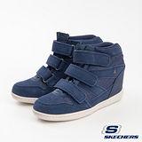 SKECHERS(女) 時尚休閒鞋-增高心機 - 短筒版48504NVY