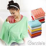 買一送一【Gennie's奇妮】多功能斗篷式哺乳造型巾(款式隨機出貨)(GX26)