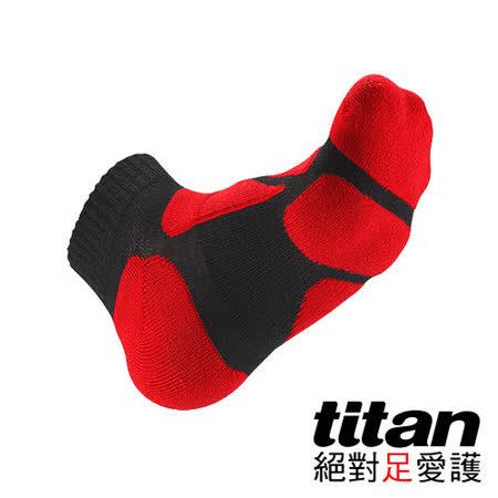Titan功能慢跑襪-[黑/紅]