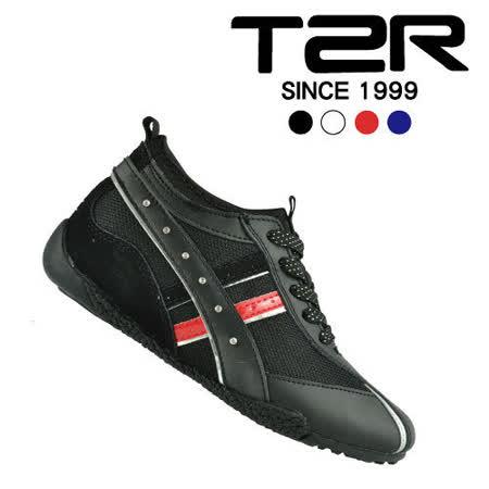 【韓國T2R】時尚水鑽隱形內增高休閒鞋7cm 黑 (5600-0058)