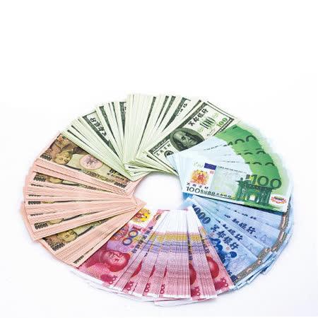 任選【金發財金紙】冥國五合一幣-含台幣人民幣歐元日幣美金(金紙-冥界財富系列)