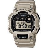 CASIO 靜音振動數位電子腕錶(淺灰)W-735H-8A2