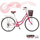 【WANMA】 輕盈系代步車6速shimano復古淑女車
