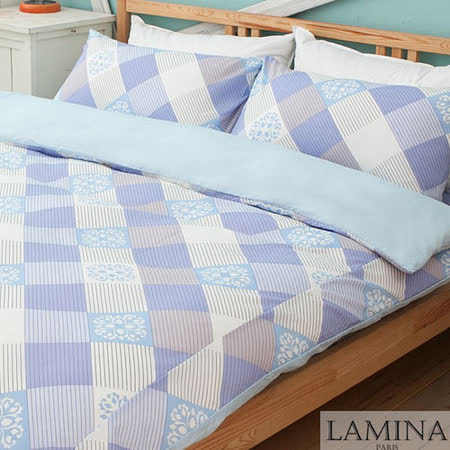 【LAMINA】葉脈風華-單人三件式床包被套組(紫)
