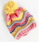 韓版-彩色繽紛球球編織帽