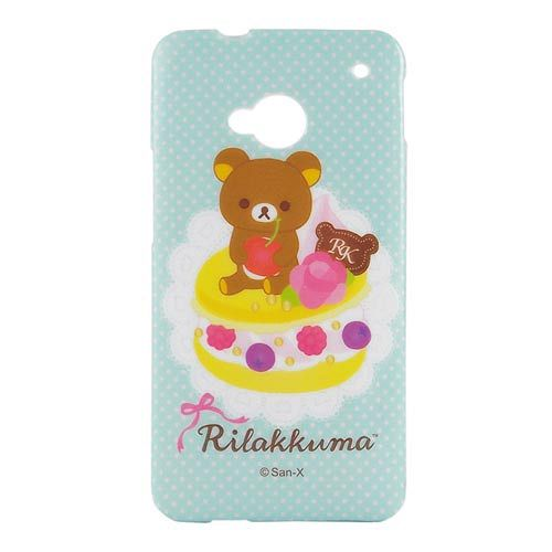 Rilakkuma 拉拉熊懶懶熊 NEW HTC ONE 浮雕晶鑽保護套~彩色馬卡龍