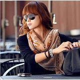 【韓系女衫】韓國設計知性圖案披肩 圍巾兩用