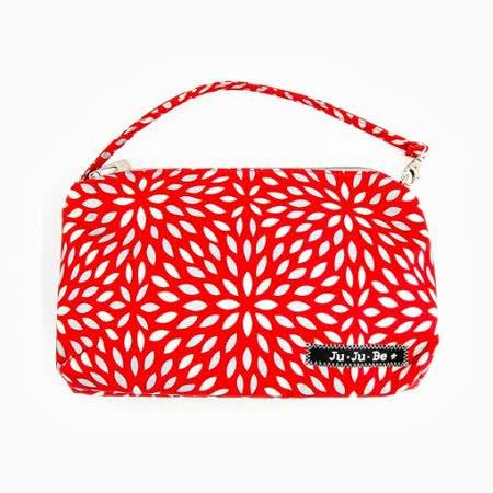 【美國JuJuBe媽媽包】BeQuick手拿包-Scarlet Petals 緋紅花瓣-典雅新色上架