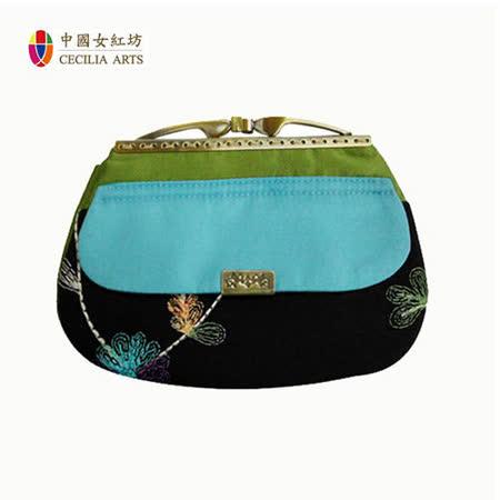 中國女紅坊 一字型口金包 / 晚宴包 / 手拿包 (粉紅/藍)