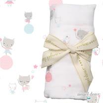 美國 ANGEL DEAR 竹纖維嬰幼兒包巾 (芭蕾舞小貓)