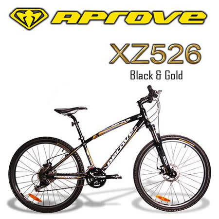 APROVE XZ526 超值27S碟煞登山車(金/黑)
