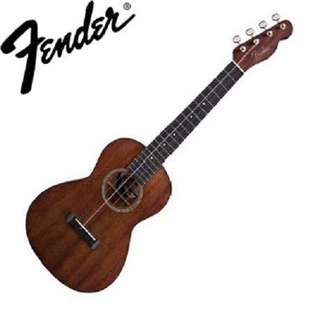 【Fender】26吋 桃花心木 烏克麗麗 經典Telecaster琴頭(Hau'oli)