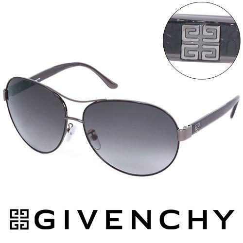 GIVENCHY 法國魅力紀梵希仿蛇紋 飛行員太陽眼鏡^(黑^) GISGV3540K59