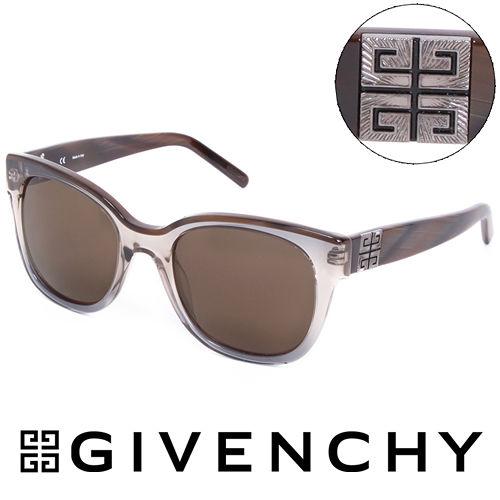 GIVENCHY 法國魅力紀梵希都會玩酷大理石紋 太陽眼鏡^(褐^) GISGV8260A