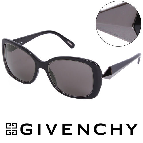 GIVENCHY 法國魅力紀梵希 幾何美學風格太陽眼鏡^(黑色^) GISGV829~70