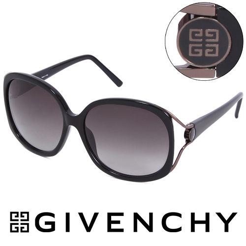 GIVENCHY 法國魅力紀梵希 LOGO都會 太陽眼鏡^(黑^) GISGV762070