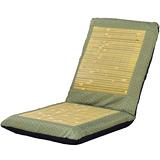 【戀香】護腰五段式小花竹編透氣大和室椅(綠)
