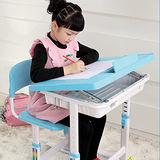 全調式兒童學習書桌椅(騎士淡藍)