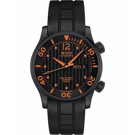 MIDO Multifort Diver 系列旗鑑日曆機械腕錶-黑 M0059303705000