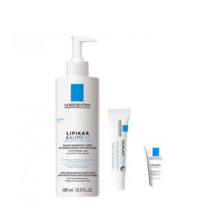 La Roche Posay 理膚寶水 理必佳修護滋養霜 400ml + 全面修護潤唇膏 7.5ml+理必佳修護滋養霜15ml