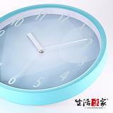 【生活采家】炫彩海藍35cm靜音掛鐘#01026