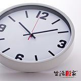 【生活采家】極簡風30cm靜音掛鐘#01045