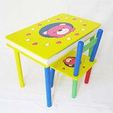 親親寶貝熊木制兒童桌椅(福利品)