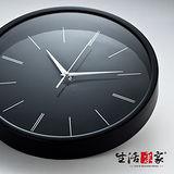 【生活采家】優雅黑30cm靜音掛鐘#01040