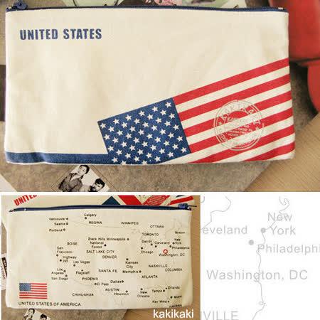 《Kakikaki》美國 國旗收納袋