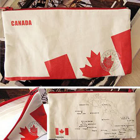 《Kakikaki》 加拿大 國旗收納袋