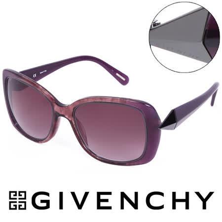GIVENCHY 法國魅力紀梵希時尚幾何美學風格太陽眼鏡(紫) GISGV8297NHX