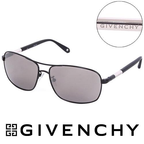GIVENCHY 法國魅力紀梵希都會玩酷飛行員復古太陽眼鏡^(黑^) GISGV41105