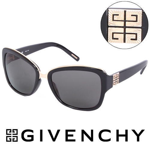 GIVENCHY 法國魅力紀梵希都會玩酷 太陽眼鏡^(黑^) GISGV8270700
