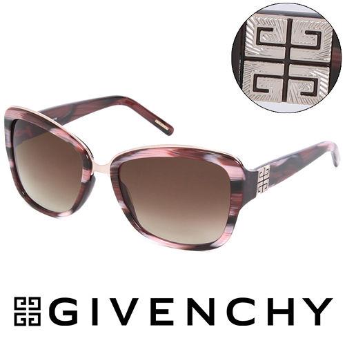 GIVENCHY 法國魅力紀梵希都會玩酷大理石紋浪漫 太陽眼鏡^(紅^) GISGV827
