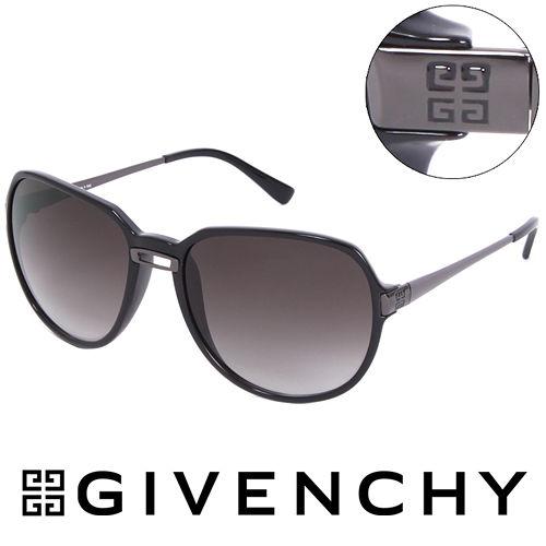 GIVENCHY 法國魅力紀梵希都會玩酷 太陽眼鏡^(黑^) GISGV7580Z42