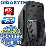 技嘉760平台【戰爭英豪】AMD FX八核 GT730-2G獨顯 500GB燒錄電腦
