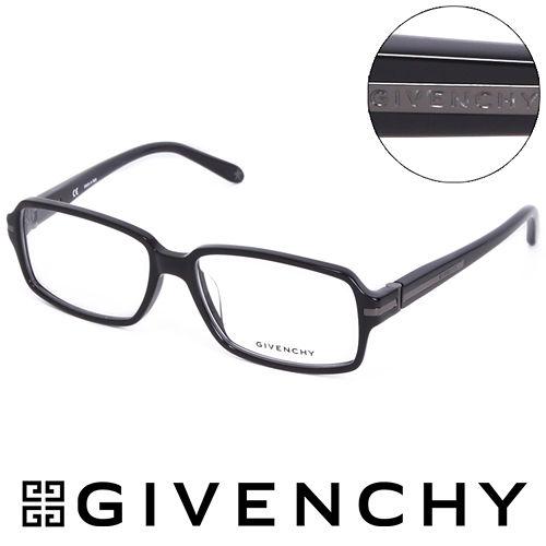 GIVENCHY 魅力紀凡希都會玩酷潮框平光眼鏡^(黑^) GIVGV7990700