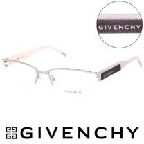 GIVENCHY 法國魅力紀梵希浪漫蛇紋混合金屬潮流平光眼鏡(米白) GIVGV4290579