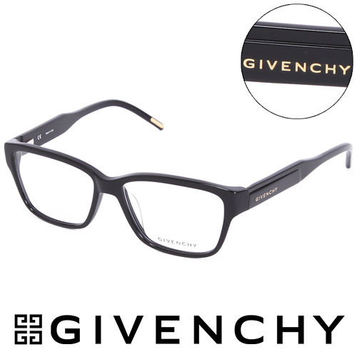 GIVENCHY 魅力紀凡希都會玩酷潮框平光眼鏡^(黑^) GIVGV7970700