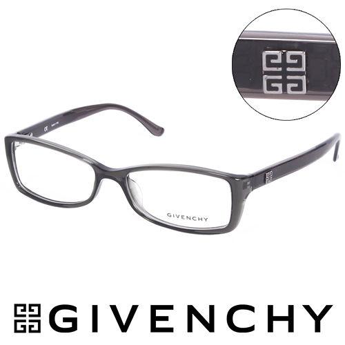 GIVENCHY 法國魅力紀梵希 北非狩獵豹紋風格 平光眼鏡^(鐵灰^) GIVGV744