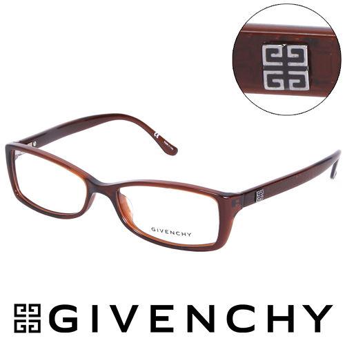 GIVENCHY 法國魅力紀梵希 北非狩獵豹紋風格 平光眼鏡^(棕^) GIVGV7440