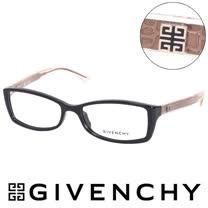 GIVENCHY 法國魅力紀梵希時尚北非狩獵豹紋風格造型平光眼鏡(黑) GIVGV7440700
