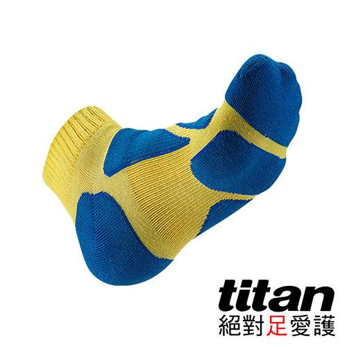 Tita愛 買 3cn功能慢跑襪-[黃/藍]