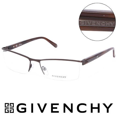 GGGIVENCHY 法國魅力紀梵希都會玩酷復古金屬光學鏡框^(棕^) GIVGV3940