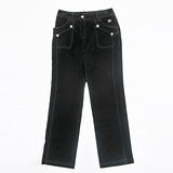 【FANTINO】女款 舒服保暖休閒褲083208(黑)