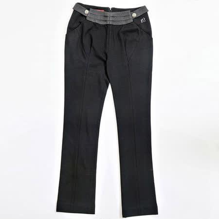 【FANTINO】女裝 柔軟布感舒適休閒褲(黑)083303