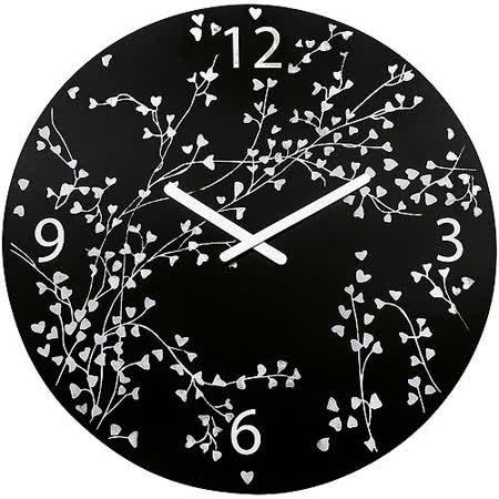 《KOZIOL》愛情樹壁面時鐘(黑)